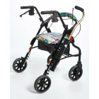 Black Cane Tube on Rollator