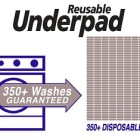 Reusable underpad 350 washes