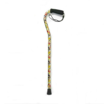 Curved Offset Foam Handle Cane