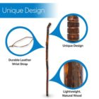 Grooved Hiking Stick 48""