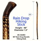 Rain Drop Hiking Stick 48""