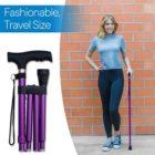 Folding Adjustable Cane - Lavender